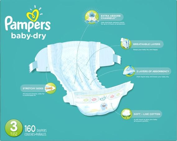 Pampers baby-dry diaper