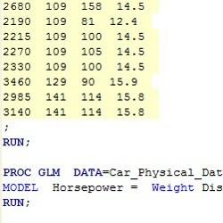 Generate SAS code