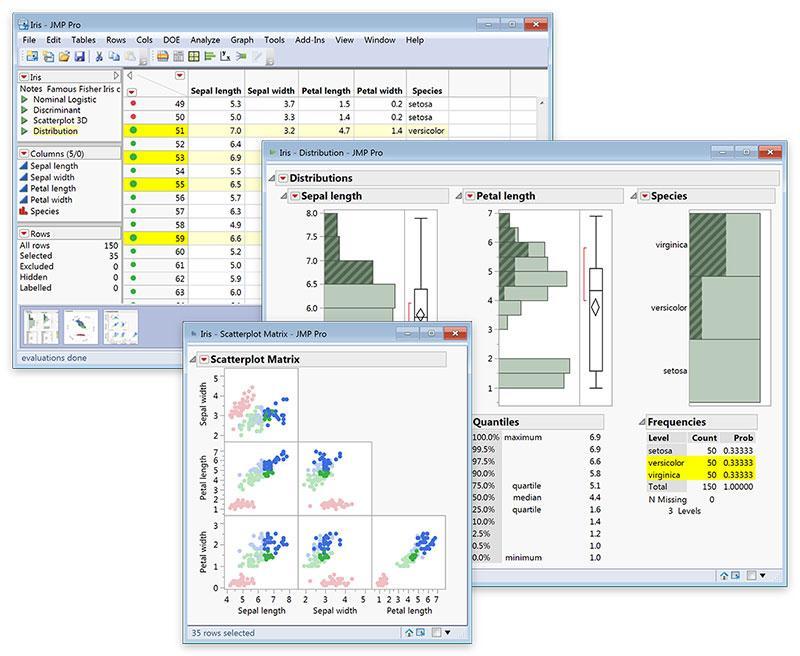 Verknüpfte interaktive Graphiken und Analyse