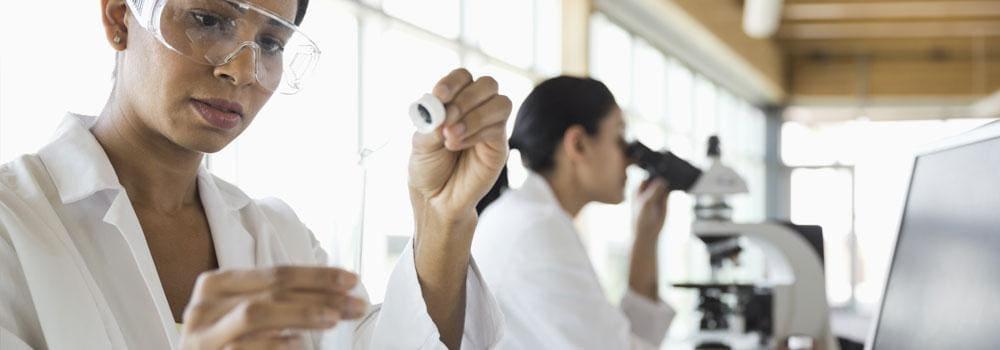 Wissenschaftler in einem Labor