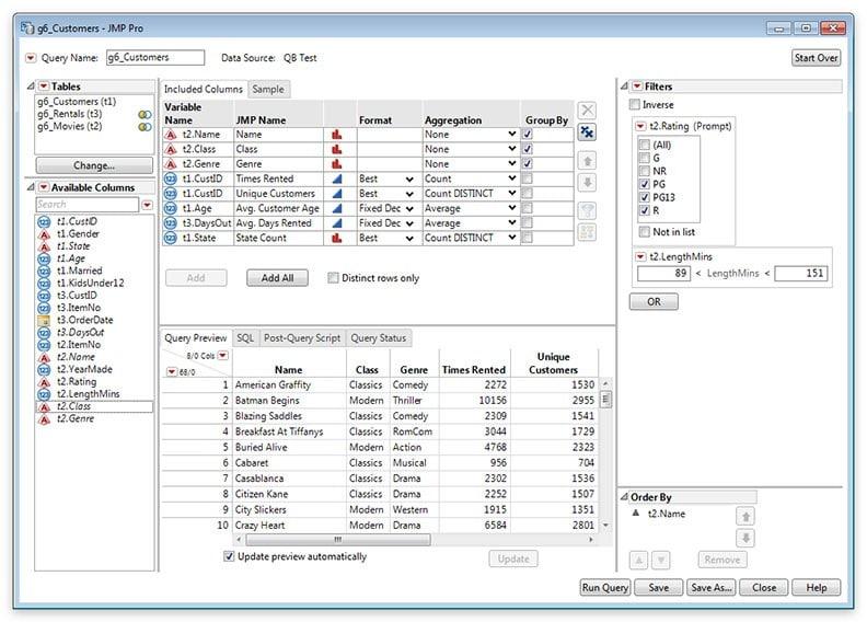 Automatisiertes Verbinden von Tabellen