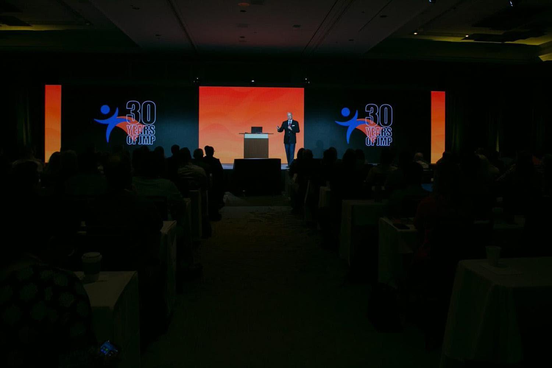 Jeff Perkinson on stage