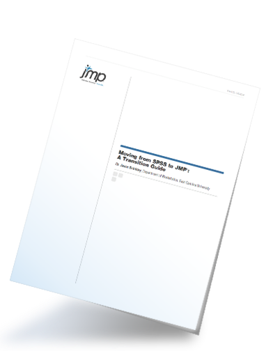 Moving from SPSS to JMP white paper