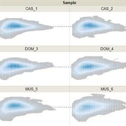 Kernel Density MA Plot by Sample after TMM Normalization