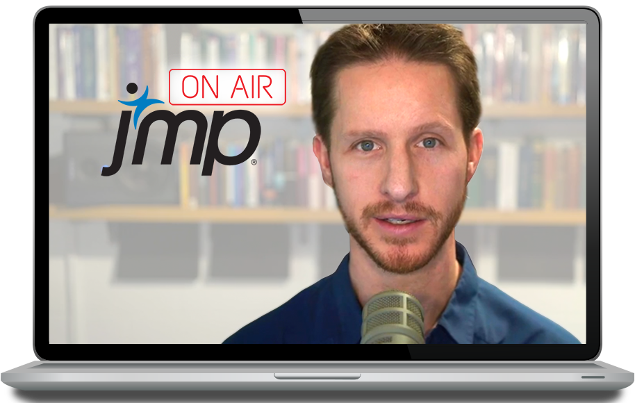 Laptop displaying Julian Parris and JMP On Air Logo