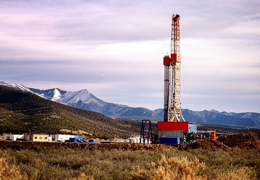 Oil Drilling on Land