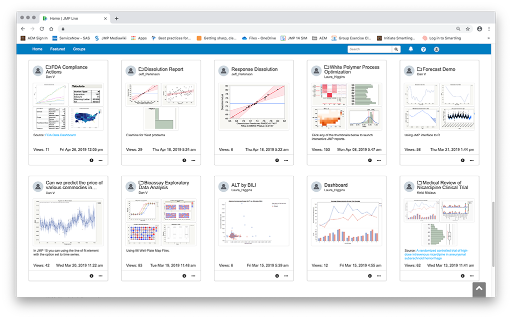 JMP Live and Data Sharing in JMP 15