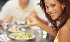 Kraft Foods woman eating