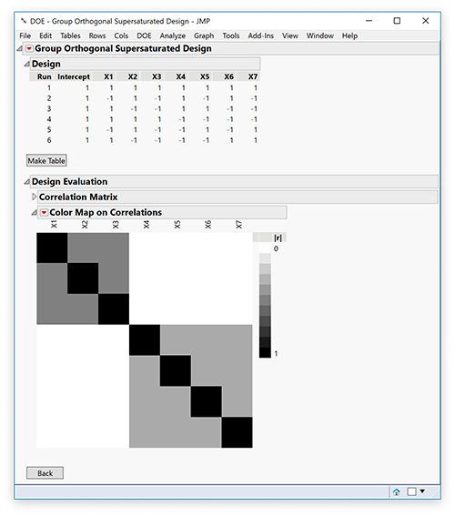 DOE Improvements in JMP 15