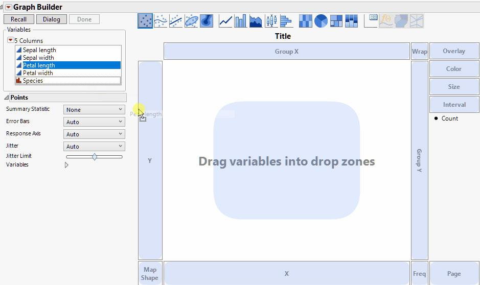 Drag-and-Drop Graph Creation in JMP 14
