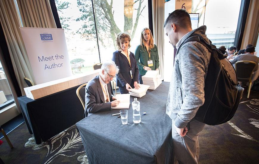 David J Hand book signing