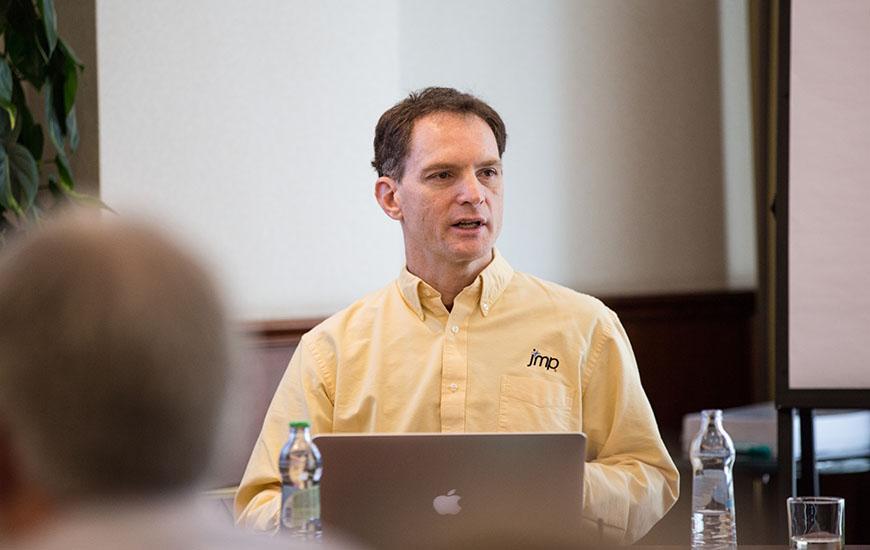Xan Gregg leads a developer tutorial