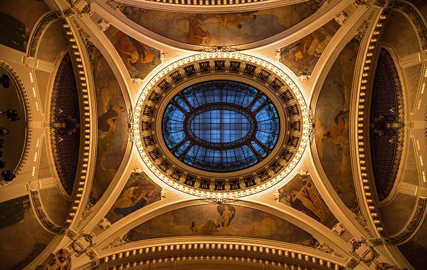 Decorative ceiling of Smetana Hall