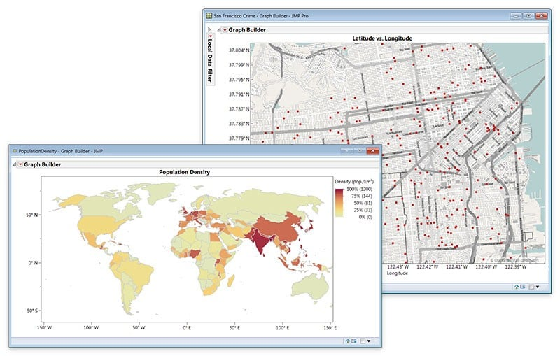 Geographic and Steet-Level Maps in JMP 13