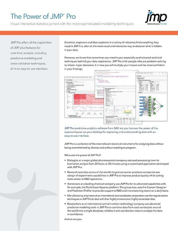 The Power of JMP Pro - brochure