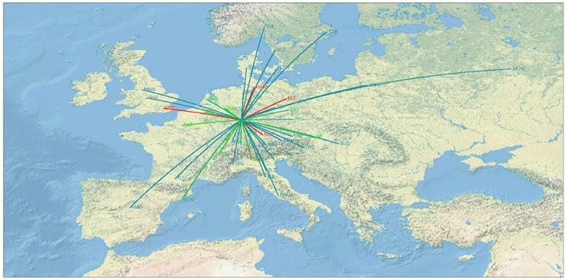 Lufthansa geographic visualization