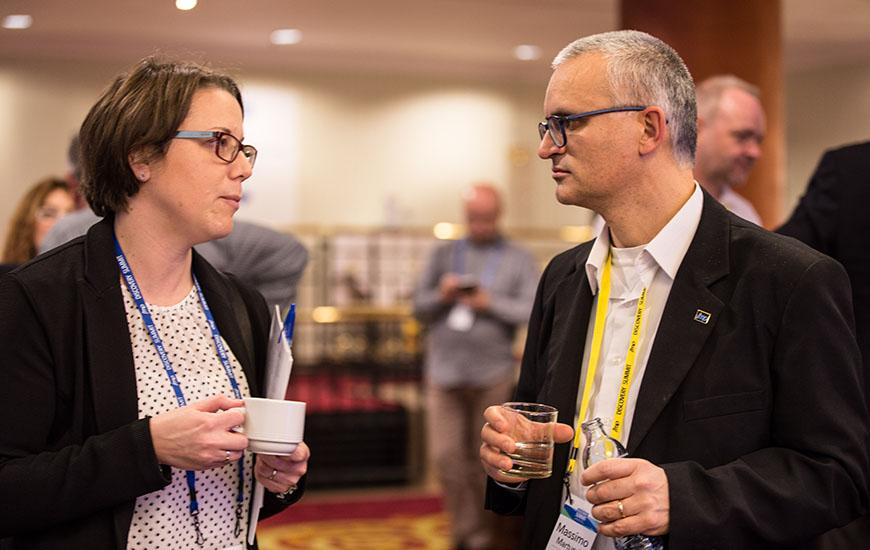 Networking conversations during Discovery Expo