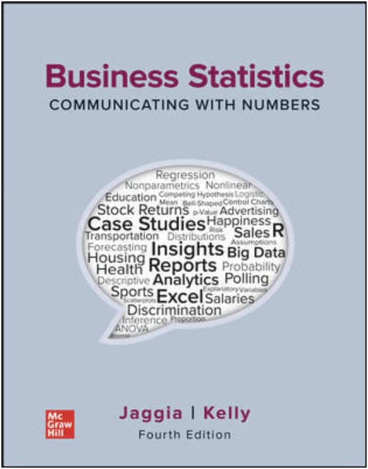 Business Statistics Communicating with Numbers