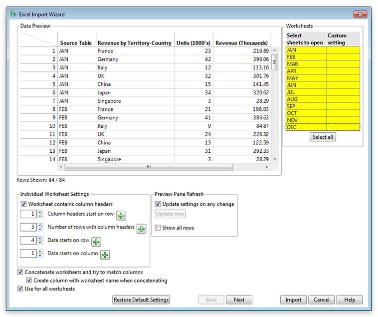 Excel Import Wizard