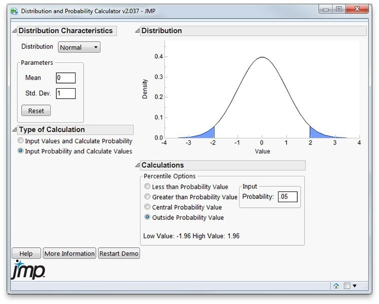 Distribution and probability calculator