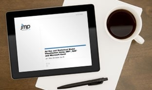 JMP white paper on a tablet