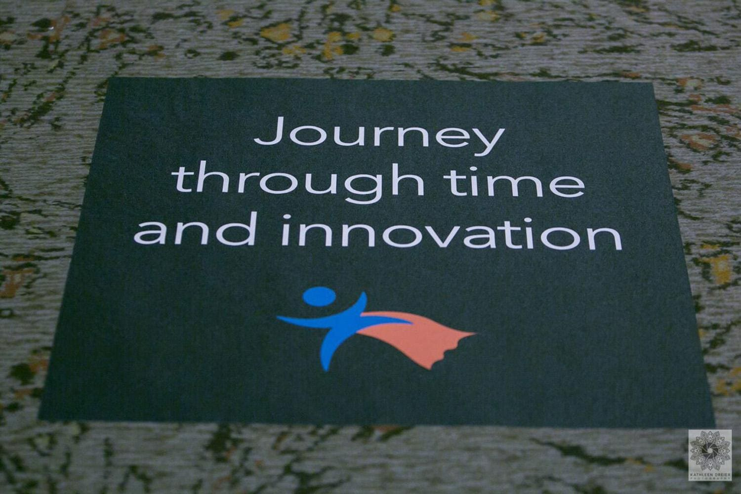 Journey through time and innovation tile