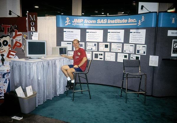 Jeff Perkinson at JMP Tradeshow - 1990
