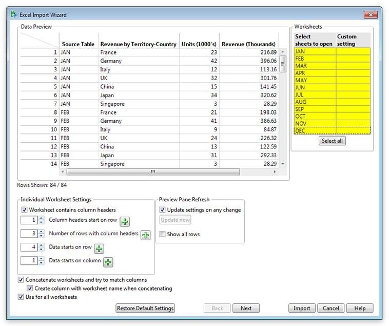 Excel Import Wizard in JMP 13