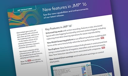 Learn more about the new features of JMP 16
