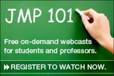 JMP 101 Free on-demand webcasts for students and professors - Register to watch now