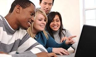 Students at computer