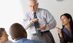 Professor talking to students