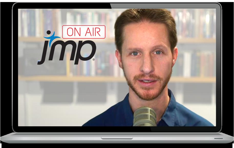 Laptop displaying Julian Parris and JMP On Air Logo