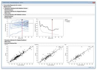 Using JMP® Pro to Build Models Using Generalized Regression Variable Selection Techniques