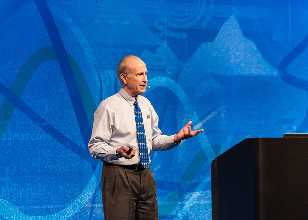 Brad Jones on stage at Statistically Speaking, large