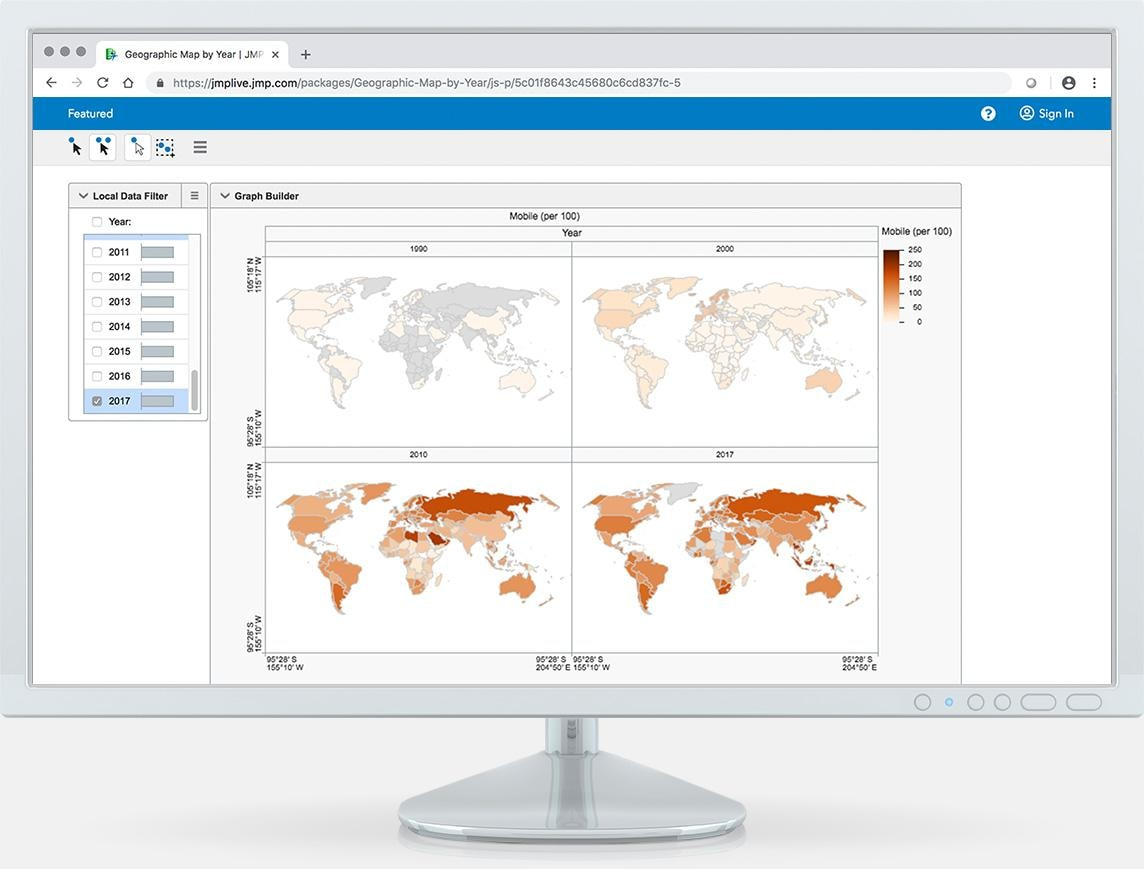 Explore the right data at any time