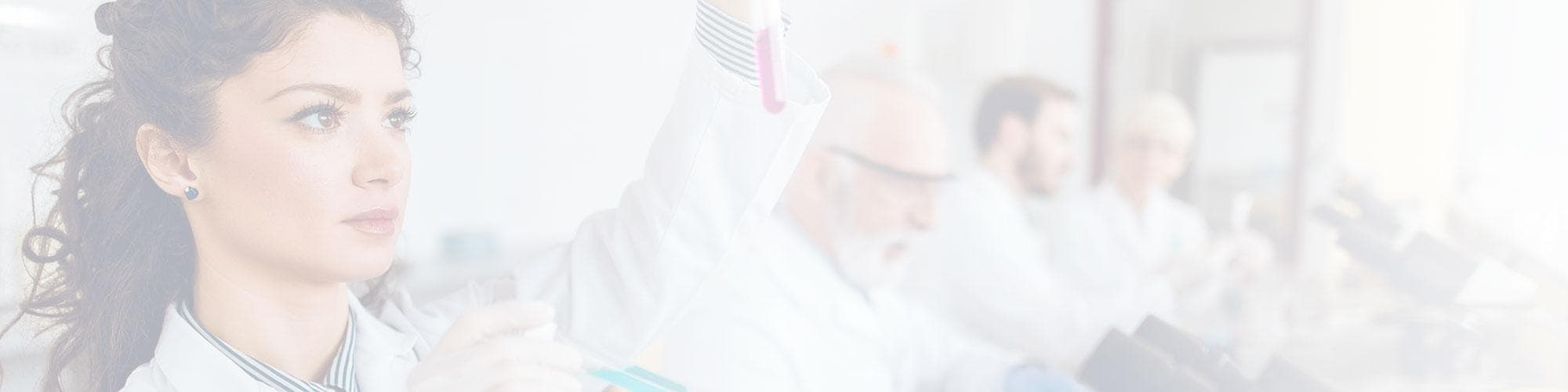 Scientists and researchers in lab