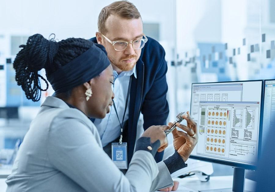 Semi industry JMP on monitor