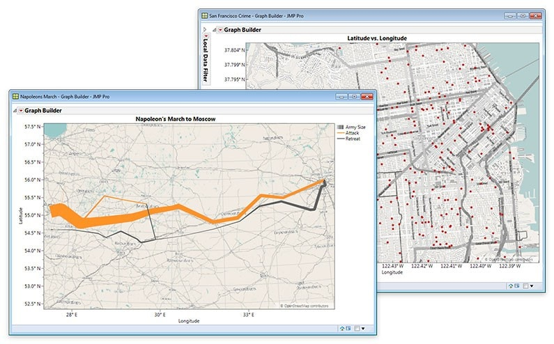 Mapas geográficos con detalles de las calles