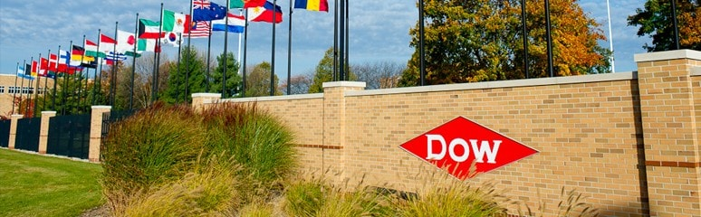 Dow Chemical Flags at Front Gate