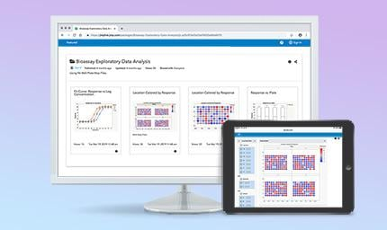 World map on JMP Graph Builder for iPad