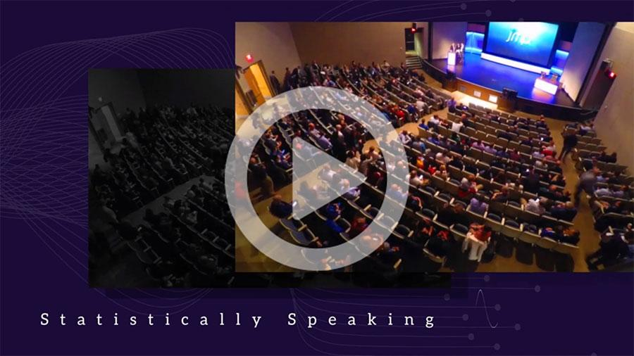 Statistically Speaking Intro Video frame