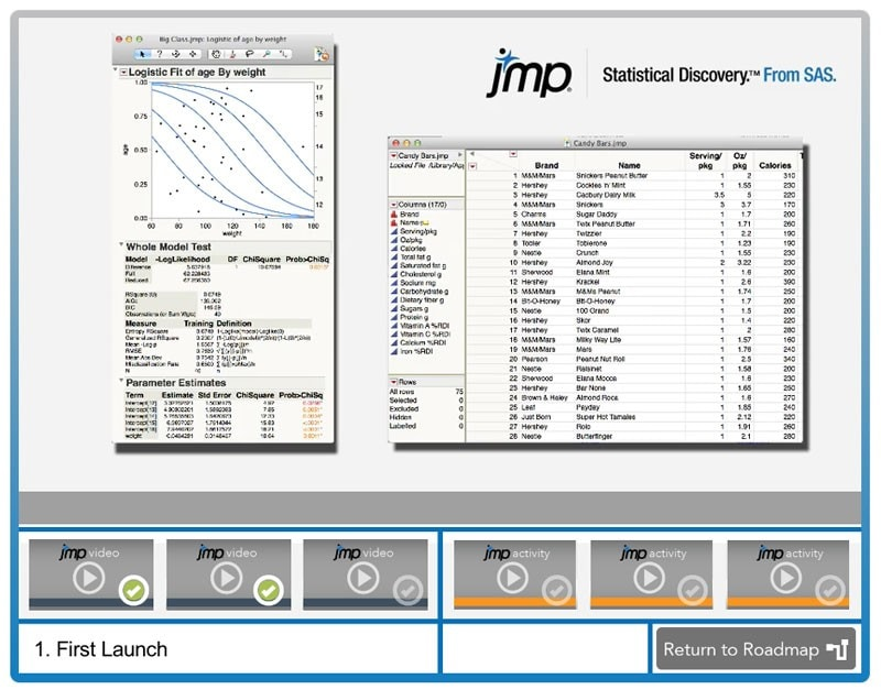 JMP New User Welcome Kit first launch