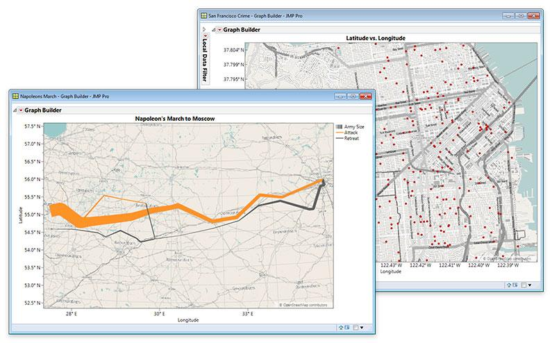 Street-Level Geographic Maps in JMP 13