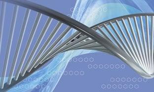 Double helix abstract image
