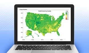 Laptop with US Map