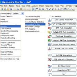 JMP Genomics Starter window