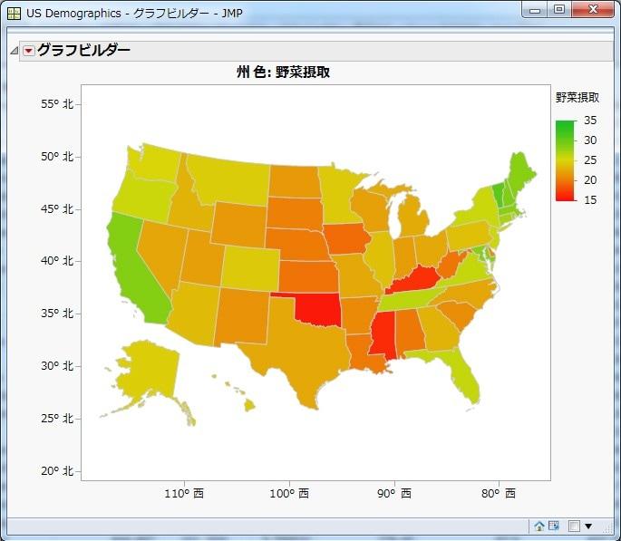 グラフビルダーでの地図表示