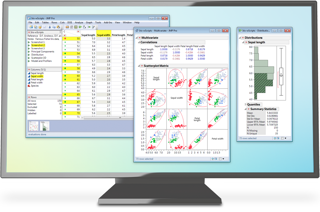 JMP データ分析ソフトウェア(MacおよびWindows対応)