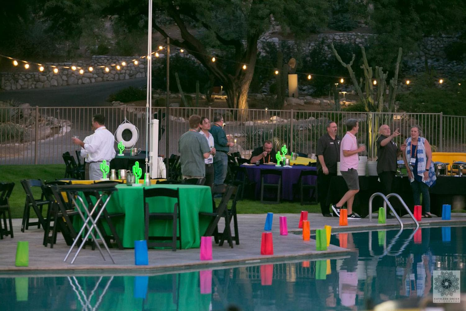 Discovery Summit dinner at Westin pool